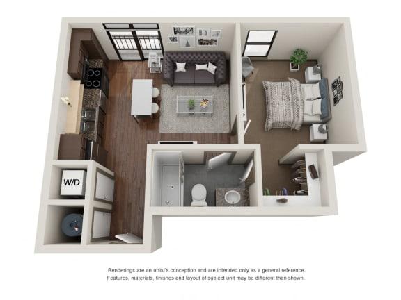 Floor Plan  301.1D Floor Plan Layout at The George & The Leonard, Atlanta, Georgia