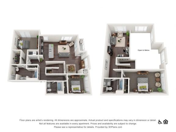Floor Plan  3 bed 2 bath townhouse