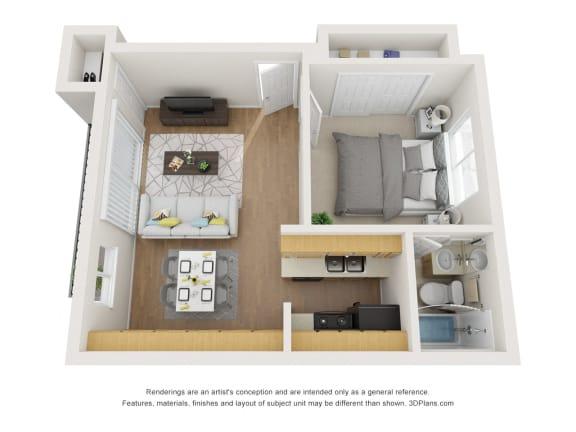 Floor Plan  Floor Plan E at Superior Place, Northridge