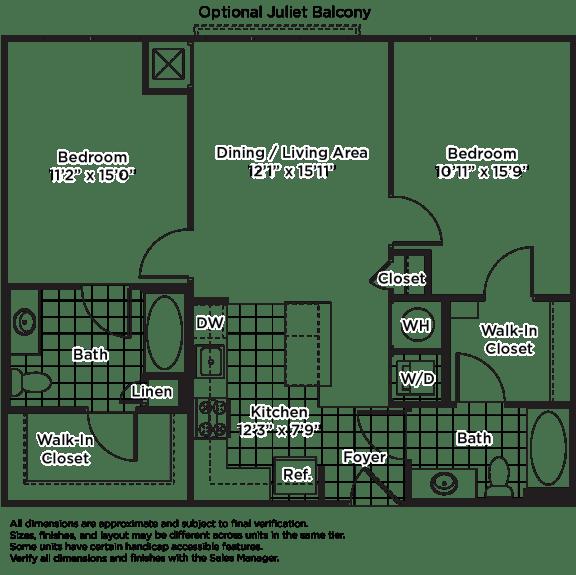 Floor Plan  b04m (Income Restricted, ADU Program)