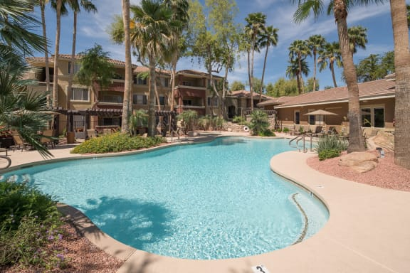 Sage Stone Resort-Style Swimming Pool in Glendale, AZ Apartment