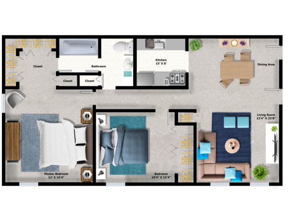 Floor Plan  2Bed