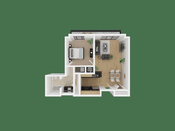 Floor Plan  The Medallion | Apartments | medallion-3d-fps-1X1