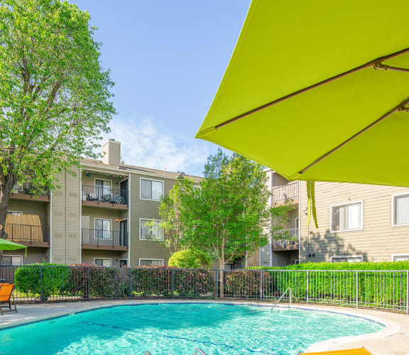 Pool with Sundeck at California Place Apartments in Sacramento, California