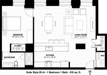 Floor Plan Suite Style B1-A