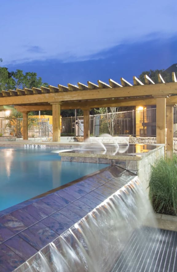 Glimmering Pool at Ethos Apartments, Texas