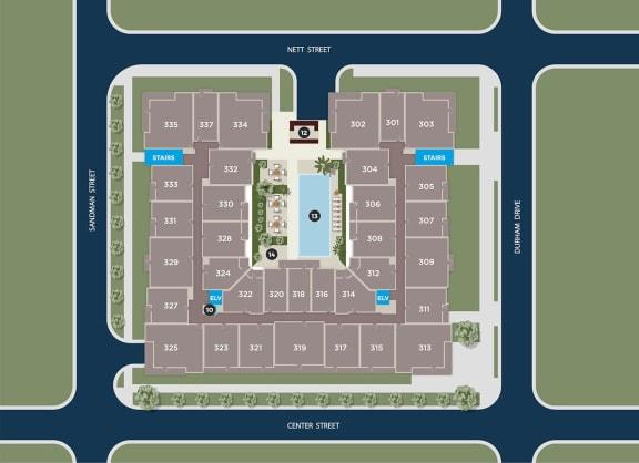 Lapis Floor Plan at Azure Houston Apartments, Houston, TX, 77007