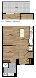 B-13 1 Bedroom 1 Bath Floorplan at Centro Arlington, Arlington