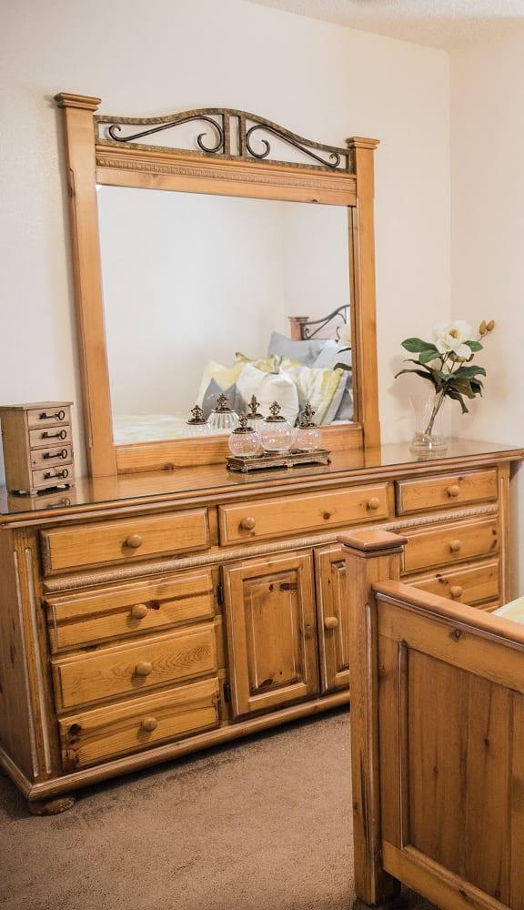 comfortable bedroom at Cantera Apartments, TX