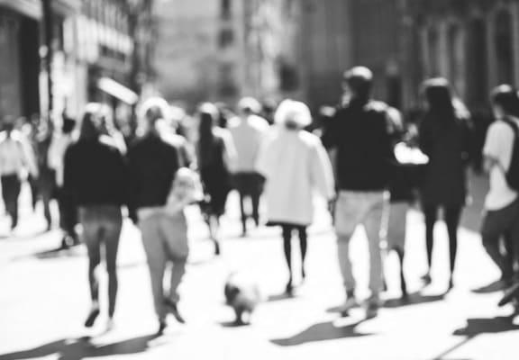 People walking at Wilshire Royale in Los Angeles, CA 90057