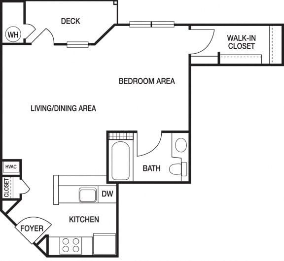 Floor Plan  Studio Renovated