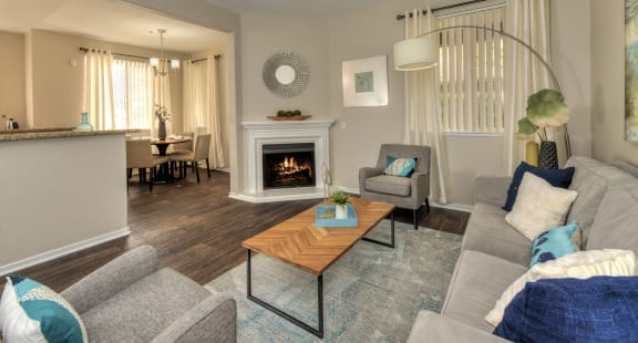 Spacious Clean Living Room at Atwood Apartments, Citrus Heights California