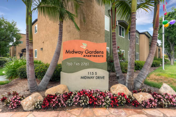 Midway Gardens Monument sign
