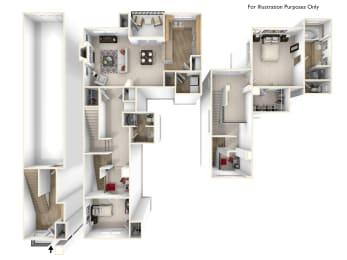 Sorrell 2x2 Floor Plan at Caviata at Kiley Ranch, Sparks, NV