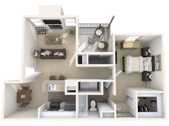 Floor Plan  Wimbledon Oaks|Blake - 1Bed 1Bath