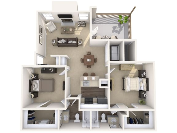 Floor Plan  Wimbledon Oaks|Sycamore -2Bed 2Bath