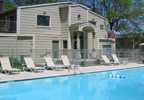swimming pool for Timberleaf Apartments in Lakewood, CO