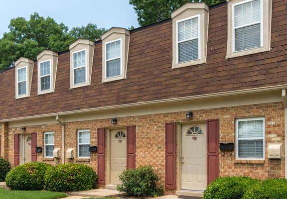 brick exterior at Whispering Oaks Apartment Homes in Portsmouth, VA