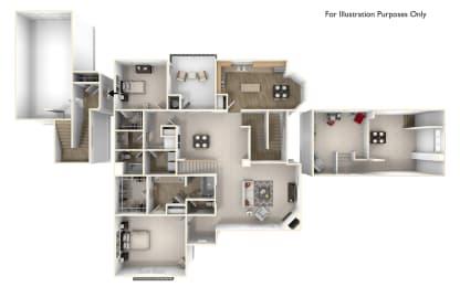 Skyros 2x2 Floor Plan at Caviata at Kiley Ranch, Sparks, NV