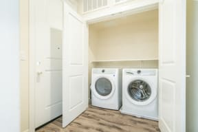 Folsom Apartments - Hub Apartments - Laundry Storage Room with In-Unit Washer/Dryer