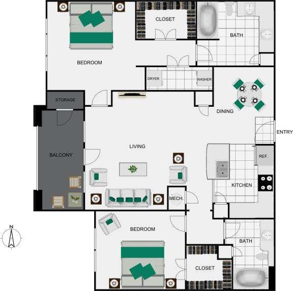 Floor Plan  B4 Floorplan view for arlo westchase