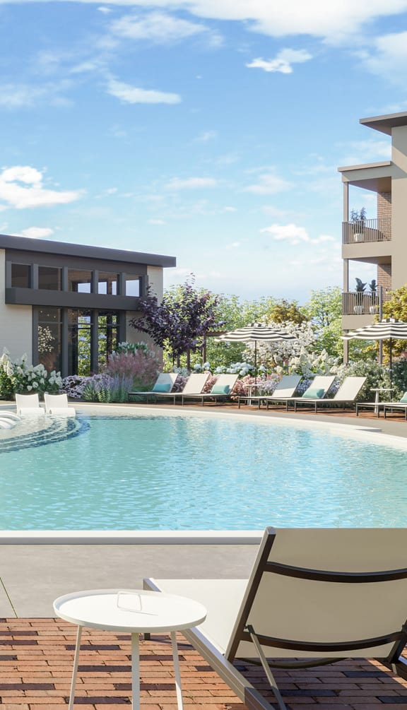 Swimming Pool With Relaxing Sundecks at Link Apartments® Linden, North Carolina