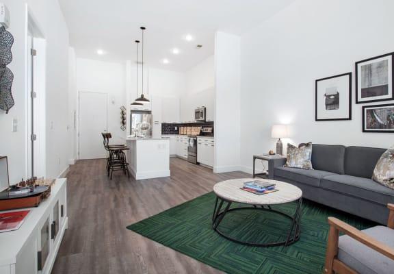 Model apartment interior at Smith & Porter Apartments in Atlanta, GA
