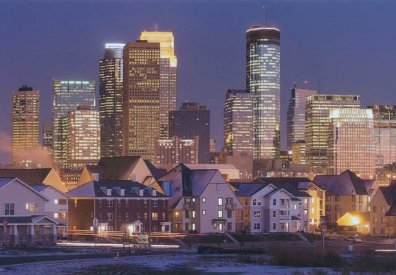 city skyline-Heritage Park Apartments, Minneapolis, MN