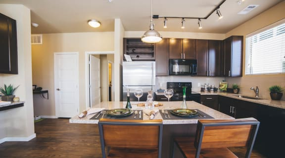 Kitchen l Louisville, CO apartments for rent l North Main at Steel Ranch 80027
