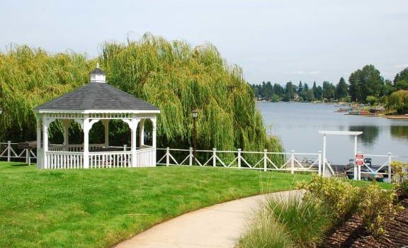 Garden Gazebo at Landing at Angle Lake Apartments, SeaTac, Washington