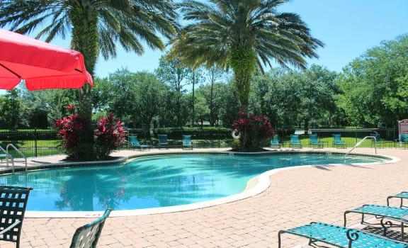 Pool Deck at Villa Valencia Apartments, Orlando