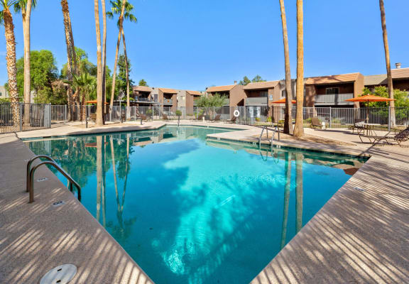 Swimming pool at Tanque Verde Apartments
