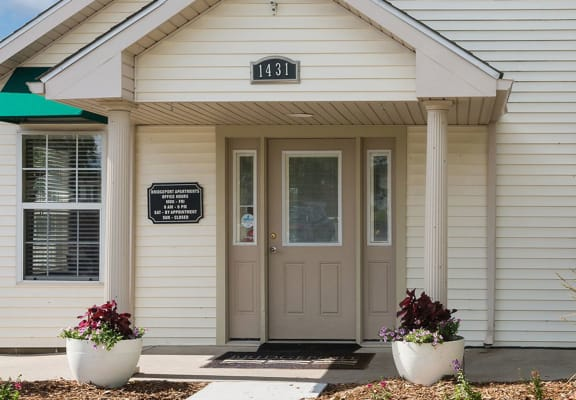 Leasing office exterior-Bridgeport Apartments Lincoln, NE