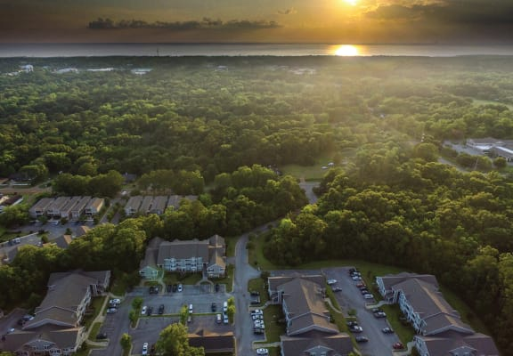 Community Aerial View & Sunset
