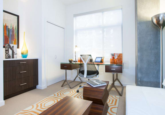 Natural Light In Living Room With Study Table for apartments in sf