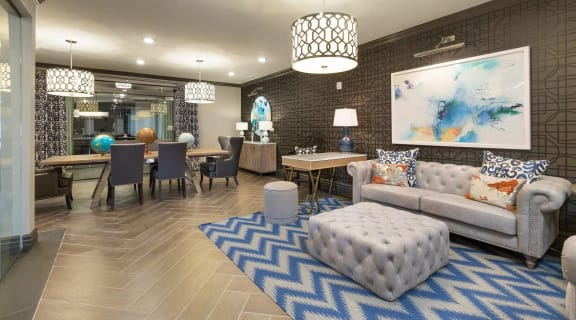 Clubroom with Entertainment Bar at The Gentry at Hurstbourne, Louisville, 40222