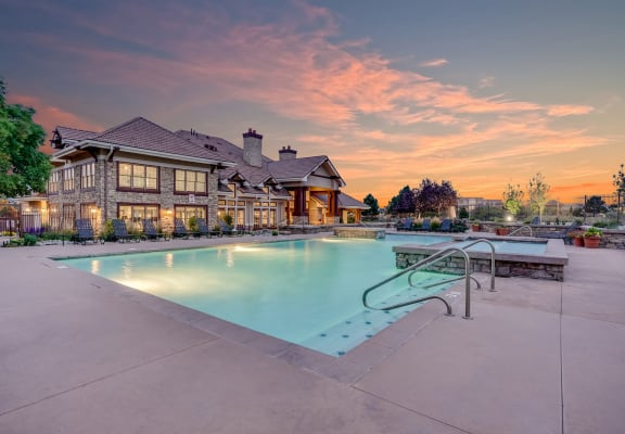 Swimming Pool at Windsor at Meridian, 9875 Jefferson Parkway, CO