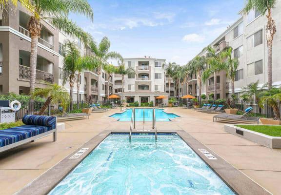 Spa and pool at Windsor at Main Place, Orange, CA