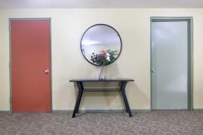 Hallway to apartment entrance