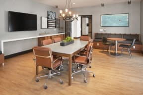 Conference room with TV