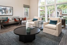 Resident lounge with seating