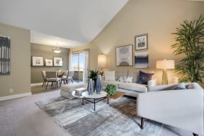 Pet Friendly Apartments in Mountain View California - Americana Apartments Living Room
