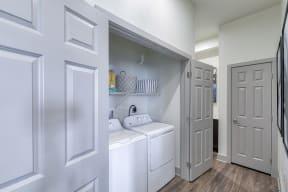 Full size washer and dryer at Windsor at Pinehurst CO, 80235