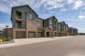 Detached garages at Windsor at Pinehurst Colorado, 80235