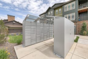 24-Hour package pick-up with package lockers at Windsor at Pinehurst 3950 S Wadsworth Blvd, Lakewood