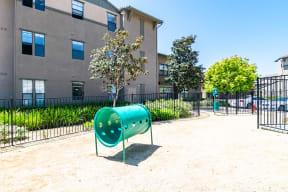 Fenced pet park