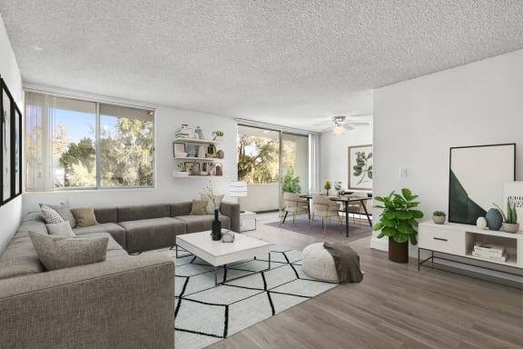 Interior Photo Living Area of The Fulton Apartments Sherman Oaks 4629 Fulton Ave, Sherman Oaks, CA 91423