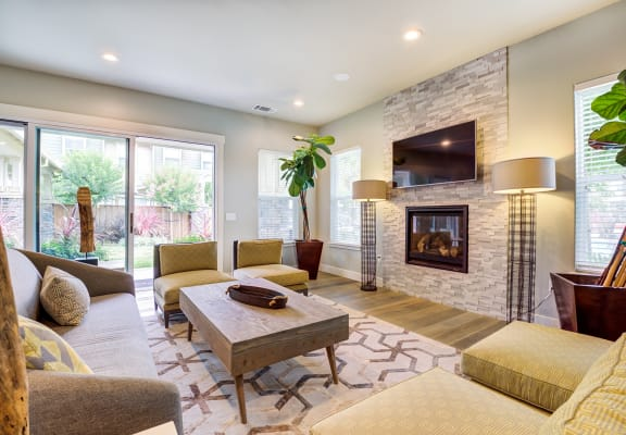 Clubhouse Fireplace | The Reserve at Rohnert Park