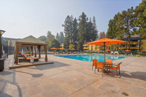 Apartments in Mountain View for Rent - Americana Apartments Pool Area