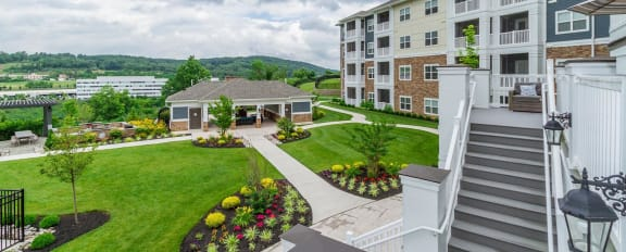 Amenities Deck of The Haven luxury apartments in Malvern, PA